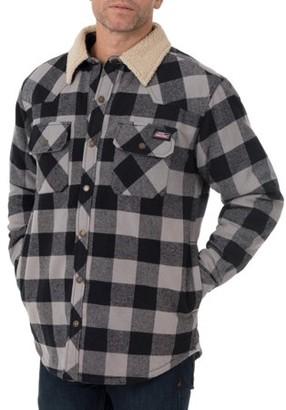 Buffalo David Bitton Genuine Dickies Men's Twill Overshirt with Sherpa Collar