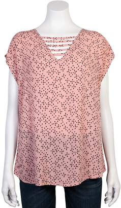 Grayson Threads Juniors' Ladder Neckline Top