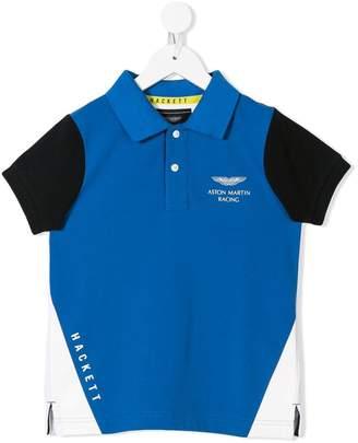 Hackett Kids KIDS X ASTON MARTIN colour-block polo shirt
