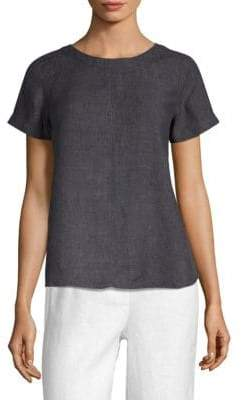 Eileen Fisher Roundneck Denim Top