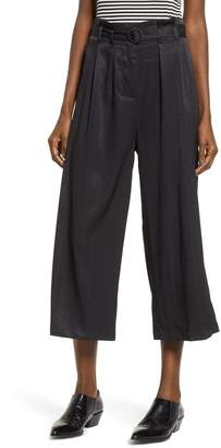 The Fifth Label Lotti Paperbag Waist Wide Leg Crop Pants