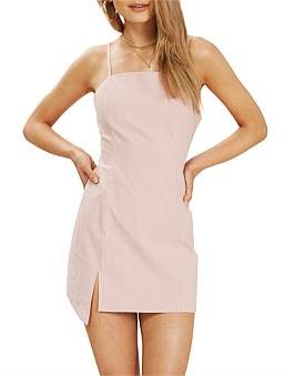 MinkPink Floss Step Hem Mini Dress
