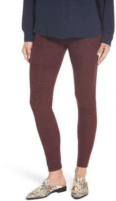 Lysse High Waist Faux Suede Leggings