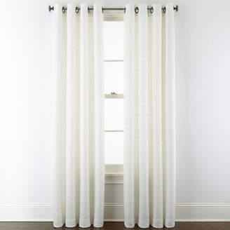STUDIO BY JCP HOME StudioTM Warner Chenille Grommet-Top Curtain Panel