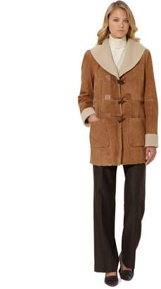 Brooks Brothers Shearling Toggle Coat