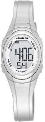 Armitron Women's Metallic Silver Digital Sport Watch