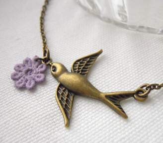 LaBelle et la Bete Swallow Necklace