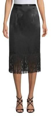 Tracy Reese Fringed Silk Skirt