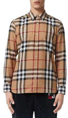 Burberry Men's Richard Plaid Shirt
