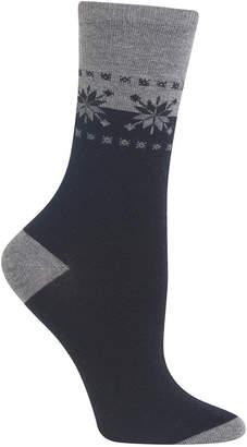 Hot Sox Women Fair Isle Border Socks