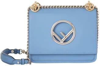 Fendi Mini Kan I Leather Logo Shoulder Bag