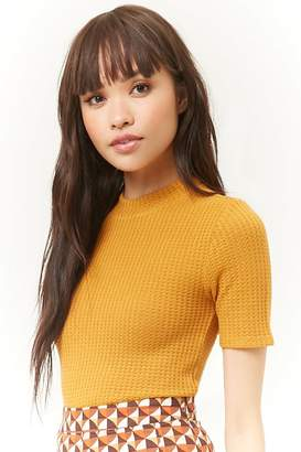 Forever 21 Waffle-Knit Top