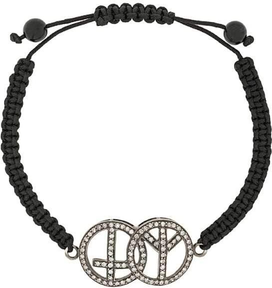 Gemco diamond peace charm bracelet