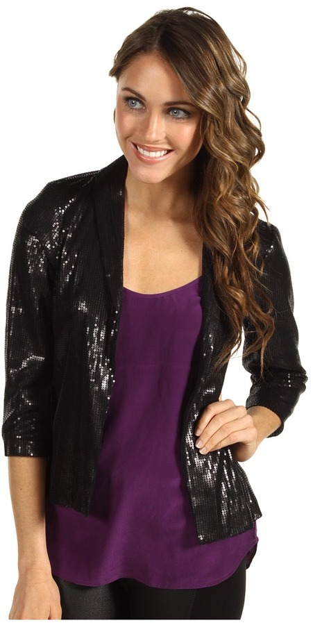Michael Stars Sequin Modal Blazer (Black) - Apparel