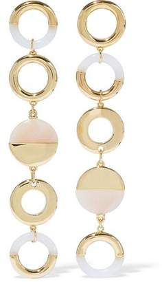 Noir Steady Glow 14-karat Gold-plated Resin Earrings