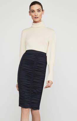 BCBGMAXAZRIA Ruched Pencil Skirt