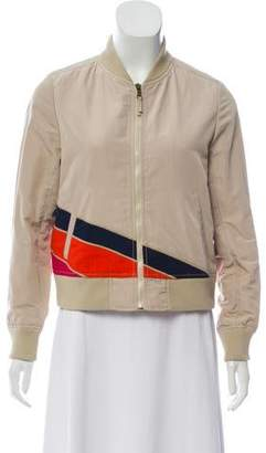 Tory Burch Patterned Bomber Jacket