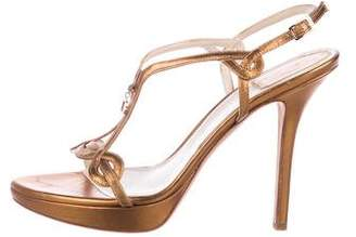 Christian Dior Leather Multistrap Sandals