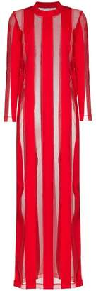 Marques Almeida Marques'almeida Sheer Stripe Maxi Dress