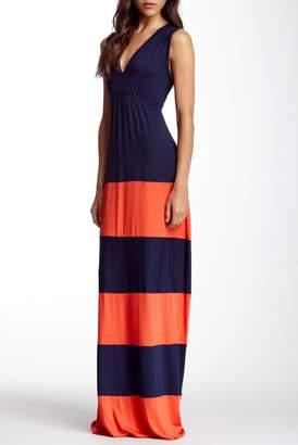 Couture Go Striped V-Neck Maxi Dress