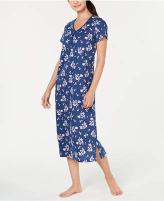 Charter Club Printed Soft Knit Cotton Nightgown dbfe0f054