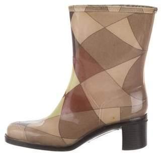 Emilio Pucci Round-Toe Rain Boots