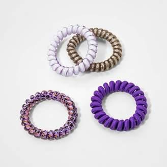 Cat & Jack Girls' 4pk Coil Bracelets - Cat and JackTM Pink