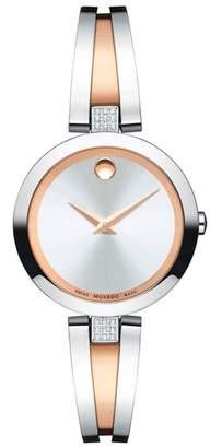 Movado Aleena Diamond Bangle Watch, 27mm