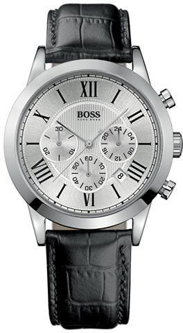 HUGO BOSS Men's Leather Band Chronograph Watch