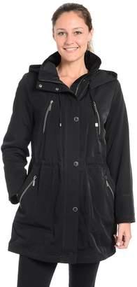 Fleet Street Women's Faux-Silk Anorak Jacket