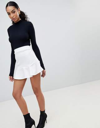 PrettyLittleThing Flippy Hem Mini Skirt