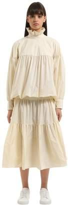 Kenzo Memento Tiered Light Taffeta Dress