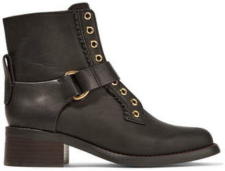 See by Chloe Leather Ankle Boots - Black