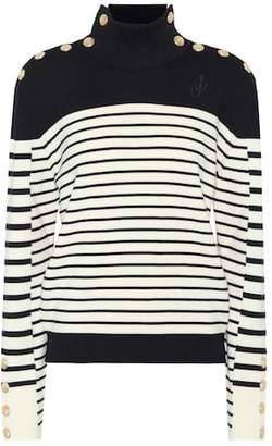J.W.Anderson Embellished striped wool sweater
