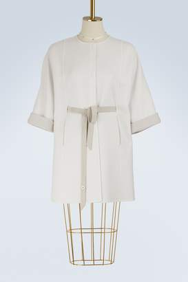 Loro Piana Mini Spring reversible belted cape
