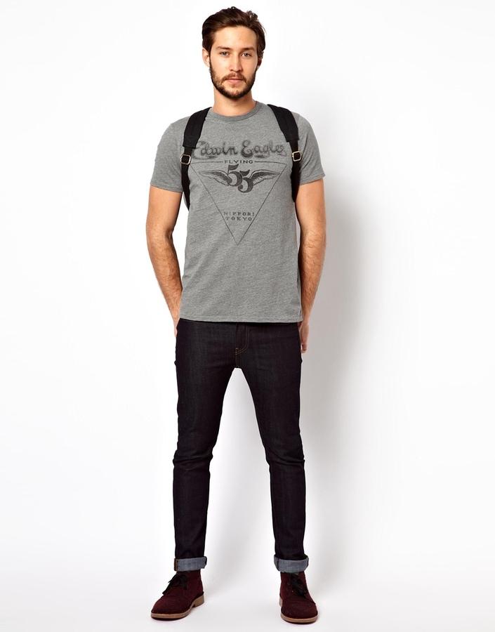 Edwin T-Shirt Flying 55 Logo