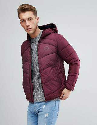Jack and Jones Quilted Jacket With Hood
