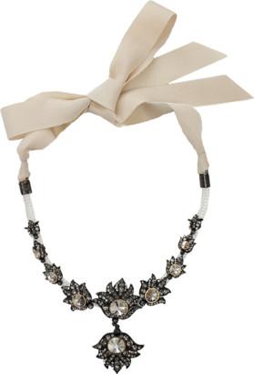 LANVIN Blanche Short Necklace $1,870 thestylecure.com