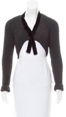 Gucci Cropped Virgin Wool Cardigan