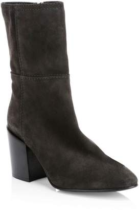 Aquatalia Fabriana Suede Stitched Booties