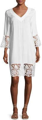 Lise Charmel Plage et Ville Lace-Trim Tunic Dress, White