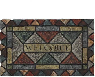 Mohawk Home Carved Elegance Geometric ''Welcome'' Doormat - 18'' x 30''