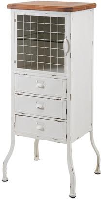 Imax Zane 3-Drawer Metal Cabinet