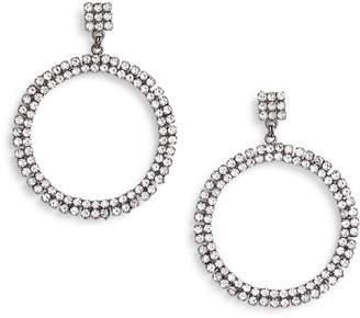 Crielle Rhinestone Frontal Hoop Earrings
