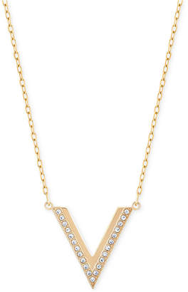 Swarovski Rose Gold-Tone Small Chevron Pendant Necklace $99 thestylecure.com