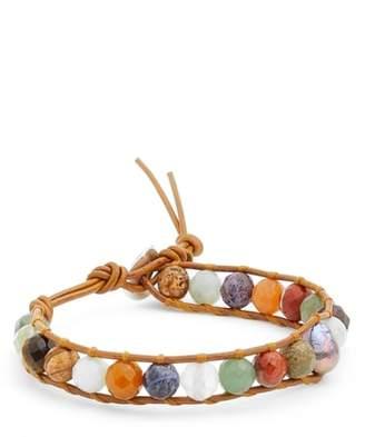 Chan Luu Stone & Pearl Leather Bracelet