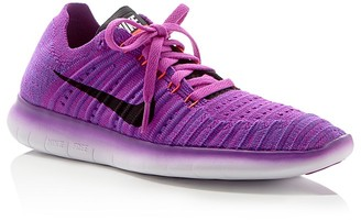 Nike Women's Free RN Flyknit Lace Up Sneakers $130 thestylecure.com