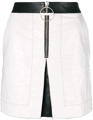 Givenchy front-zip biker mini skirt