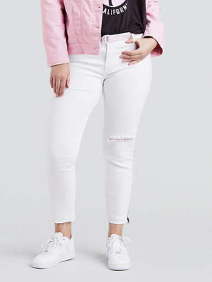 Levi's 711 Skinny Ankle Zip Jeans (Plus Size)