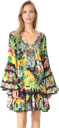Camilla Call Me Carmen Frill Dress $650 thestylecure.com